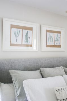 DIY modern roller art and free fern printables Cheap Diy Home Decor, Handmade Home Decor, Home Decor Items, Ikea Frames, Diy Artwork, Painting Kitchen Cabinets, Do It Yourself Home, Easy Paintings, Bed Pillows