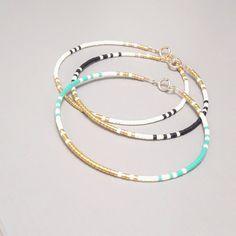 Bijoux délicat Bracelet Simple délicate perle or par ToccoDiLustro