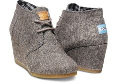Herringbone Womens Desert Wedges