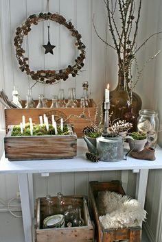 ~ Natural Christmas decorations ~ Beautiful inspiration.