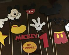 Mickey and Minnie Mouse Photo Booth Props por Cre8iveDesignss