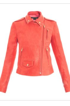 Peach/orange leather jacket