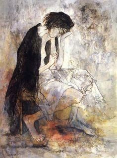 Femme au chale. Jean Jansem