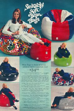 Beanbag Chairs...first introduced in 1969