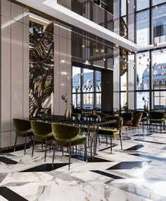 Pilot Hotel Lobby and Restaurant Areas on Behance