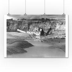 Cripple Creek, Alaska - View of Gold Mining Dredge - Vintage Photograph (36x54 Giclee Gallery Print, Wall Decor Travel Poster), Multi