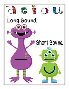 Vowels freebies - This is my favorite!  I like the symbols on their tummies.