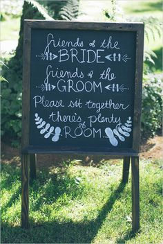 weddng ceremony seating sign @weddingchicks