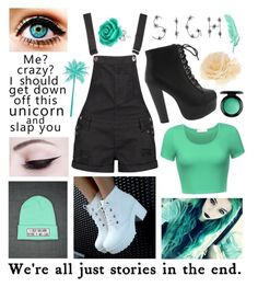 """""""Random #412"""" by maddyisaunicorn ❤ liked on Polyvore featuring Boohoo, Accessorize, Bling Jewelry, WALL and MAC Cosmetics"""