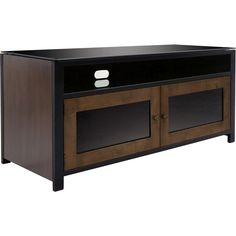 Classic Flame Bell'O TV Stand A/V Cabinet in Cocoa Wood with Matte Black Steel Frame - No Tools Assembly Cabinet, Tv Stand, Living Room Wall Units, Modern Wall Units, Storage Entertainment Center, Entertainment Wall Units, Storage, Black Steel Frame, Wall Unit