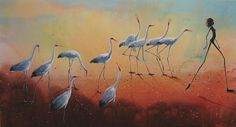 Desert Procession - Judy Prosser artist