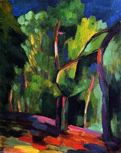 """""""Undergrowth"""", Oil On Panel by Andre Lhote (1885-1962, France)"""