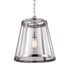 FREE SHIPPING. Purchase the large Harrow Pendant by Murray Feiss in polished nickel today at lighting connection. Polished nickel kitchen island pendants. Transitional lighting for your kitchen. P1288PN