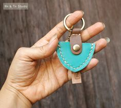 Mens Keychain Keyring Leather Pick Guitar Case  Hand by rntn, $14.00