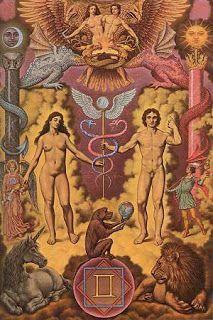Allegory alchemy jachin boaz symbolism art