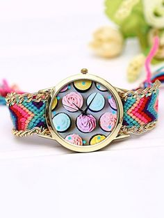 SHARE & Get it FREE | Handcraft Cupcake Print Braid WatchFor Fashion Lovers only:80,000+ Items • New Arrivals Daily Join Zaful: Get YOUR $50 NOW!