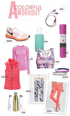 Colorful workout gear to get us off the couch! http://www.stylemepretty.com/living/2015/01/08/colorful-gear-to-up-your-winter-workout-game/