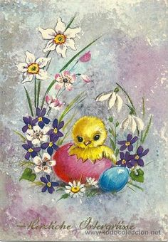 Fairy Wallpaper, Easter Illustration, About Easter, Creative Embroidery, Owl Art, Vintage Easter, Old Postcards, Pictures To Paint, Vintage Cards