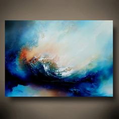 Gran lienzo pintura al óleo abstracta por por SimonkennysPaintings