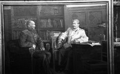 Portrait of Choibalsan with Stalin.