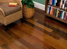 BELLAWOOD - 3/4 x 5 Brazilian Walnut - I love the multiple colors! I wonder what it would look like if I used that Vinyl Plank flooring and just made it up as I went...