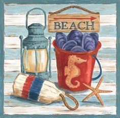 Beach House Pail (Jennifer Brinley)
