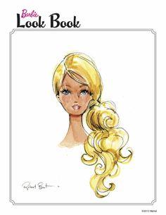 "Robert Best Barbie illustration: Barbie Look Book: ""The Wave"""