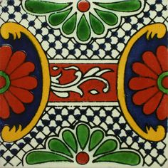 Traditional Mexican Border Tile - Guia Maya