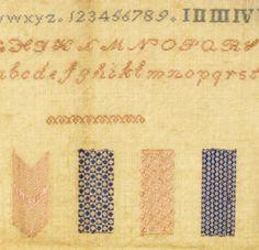 19th century darning sampler http://www.embroiderersguild.com