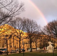 From our friends at MIT - t's feeling like spring today. Here's a throwback to spring 2016 when a glorious rainbow illuminated the dome. Repost and photo by Cambridge Ma, Massachusetts Institute Of Technology, Student Work, Spring 2016, Country Roads, Rainbow, Mansions, House Styles, City