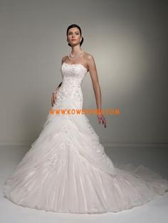 Fabulous Designer Strapless Princess Applique Organza Custom...
