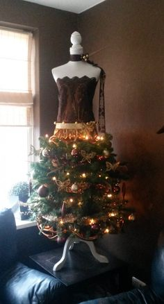 het idee gezien op welke, en het nu zelf gemaakt. Een keer wat anders dan een kerstboom.