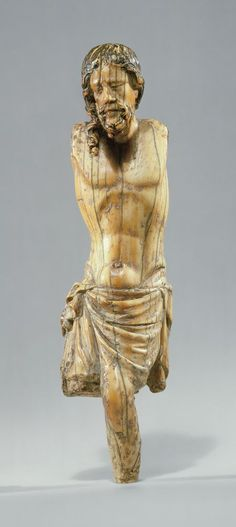 Corpus of Christ, French, c. 1250 Made in Paris of elephant ivory
