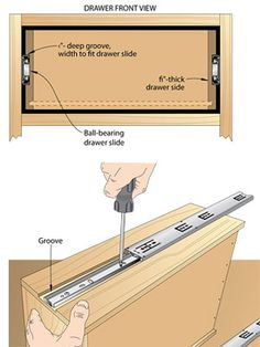 Squeeze more room into your drawers by recessing the slides in