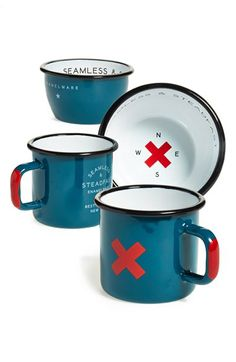 Best Made Co 'Seamless & Steadfast' Enamelware Cups, Bowls & Plates (Set of 6) | Nordstrom