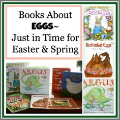 Books with Eggs~ Just in time for Easter & spring!