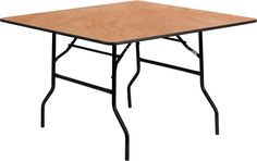 48'' Square Wood Folding Banquet Table-48'' Square Wood Folding Banquet Table