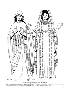 Byzantine Fashions 9 / Byzantine Fashions / Kids printables coloring pages