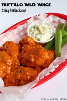 This copycat recipe of Buffalo Wild Wings Spicy Garlic Sauce is so good! It tastes just as good as their sauce if not better! I added this amazing sauce to baked boneless wings and it was a huge hit!