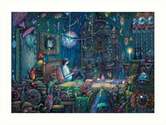 Buy 'Howl's room in Moving Castle' by illustore as a Sticker, iPhone Case/Skin, iPhone Wallet, Case/Skin for Samsung Galaxy, Poster, Throw Pillow, Tote Bag, Studio Pouch, Mug, Travel Mug, Art Print, Canvas Print, Framed Print, Photographic...