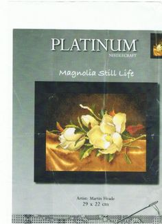 Still Life Artists, Le Point, Magnolia, Painting, Cross Stitches, Embroidery, Gallery, Frames, Punto De Cruz