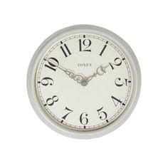 Jones Metal light grey small 'Piccadilly' clock   Debenhams