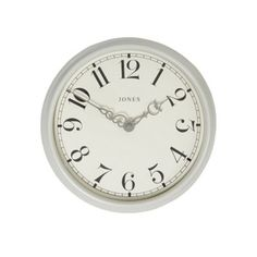 Jones Metal light grey small 'Piccadilly' clock | Debenhams