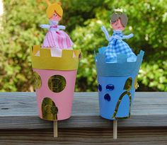 Pop up princess in a cup #tutorial #DIY #crafts #kids