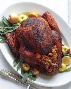 Citrus-Rubbed Turkey with Cider Gravy is a celebration stunner #Thanksgiving