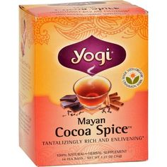 Yogi Herbal Tea Mayan Cocoa Spice - 16 Tea Bags - Case Of 6