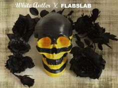Skull - White Antler x FLABSLAB  Collaboration Skull  http://www.whiteantler.com/blog/white-antler-x-flabslab-collaboration