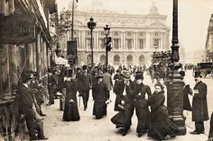 France. Place de l'Opéra, Paris, c.1900