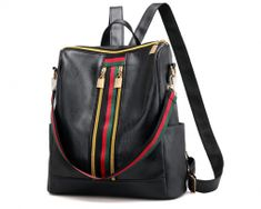 New Women Backpack PU Leather Fashion Casual Tassel Bags High Quality Anti-theft Female Shoulder Bag For Girls Travel Rucksack Black Backpack, Backpack Bags, Leather Backpack, Fashion Backpack, Leather Fashion, Pu Leather, Shoulder Backpack, Shoulder Bags, Shoulder Strap