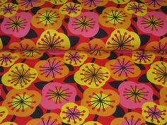 Organic Jersey Poppy Flowers by Lillestoff de Retro-Stoff-Cafe por DaWanda.com
